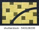 colored concrete paving slab... | Shutterstock . vector #543128230