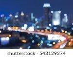 twilight blurred bokeh lights... | Shutterstock . vector #543129274