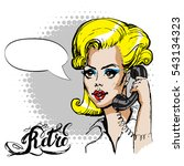 she calls on the phone  vector... | Shutterstock .eps vector #543134323