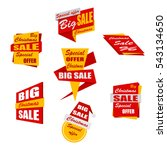 set of christmas sale banners.... | Shutterstock .eps vector #543134650