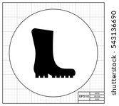 rubber boot icon | Shutterstock .eps vector #543136690