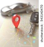 3d illustration. car key on the ... | Shutterstock . vector #543140470