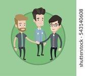 group of caucasian businessmen... | Shutterstock .eps vector #543140608