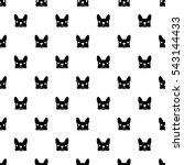french bulldog vector seamless...   Shutterstock .eps vector #543144433