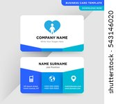 template of business card for... | Shutterstock .eps vector #543146020
