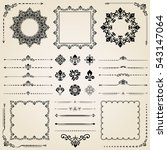 vintage set of elements.... | Shutterstock . vector #543147064