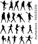 beautiful  dancing girl   Shutterstock .eps vector #543152356