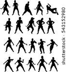 beautiful  dancing girl   Shutterstock .eps vector #543152980