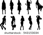 beautiful  dancing girl | Shutterstock .eps vector #543153034