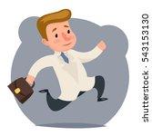 doctor hurry run character... | Shutterstock .eps vector #543153130