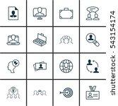 set of 16 business management... | Shutterstock .eps vector #543154174
