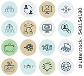set of 16 business management... | Shutterstock .eps vector #543154180