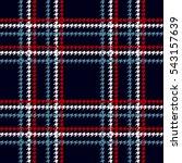checkered seamless woolen... | Shutterstock .eps vector #543157639