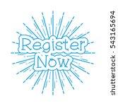 register now vintage poster... | Shutterstock .eps vector #543165694