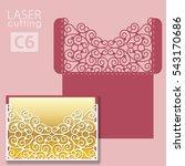 laser cut wedding invitation... | Shutterstock .eps vector #543170686