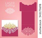 die laser cut wedding card... | Shutterstock .eps vector #543170698