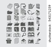 document icons | Shutterstock .eps vector #543171259