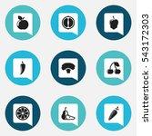 set of 9 editable cookware...