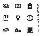 set of 9 editable banking icons....