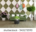 green room with a sofa. living... | Shutterstock . vector #543173593