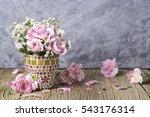pink carnation in mosaic flower ... | Shutterstock . vector #543176314