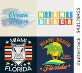 miami florida typography ...   Shutterstock .eps vector #543178423