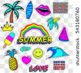 patches summer   vector... | Shutterstock .eps vector #543180760