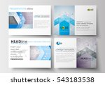 set of business templates for... | Shutterstock .eps vector #543183538