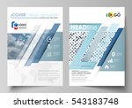 business templates for brochure ... | Shutterstock .eps vector #543183748