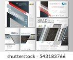social media posts set.... | Shutterstock .eps vector #543183766