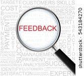 feedback. magnifying glass over ... | Shutterstock .eps vector #543184270