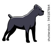 dog cane corso vector isolated... | Shutterstock .eps vector #543187864