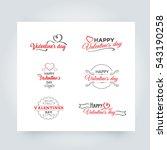 happy valentines day vector... | Shutterstock .eps vector #543190258