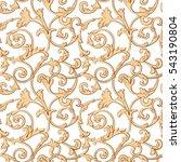 seamless pattern  baroque ... | Shutterstock .eps vector #543190804