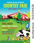 country fair background | Shutterstock .eps vector #543194428