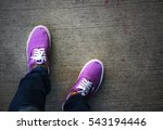 top view of a pair of purple... | Shutterstock . vector #543194446