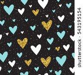 heart seamless pattern... | Shutterstock .eps vector #543195154