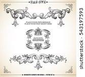 vector set  calligraphic design ... | Shutterstock .eps vector #543197593