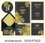 set of templates  for wedding... | Shutterstock .eps vector #543197620