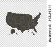 usa map in chess background | Shutterstock .eps vector #543198544