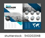 abstract business brochure... | Shutterstock .eps vector #543202048