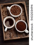 different types of coffee  ... | Shutterstock . vector #543203494