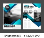 abstract business brochure... | Shutterstock .eps vector #543204190