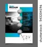 blue business brochure design...   Shutterstock .eps vector #543204196
