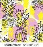 seamless pattern with... | Shutterstock .eps vector #543204214