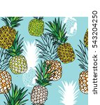 seamless pattern with... | Shutterstock .eps vector #543204250