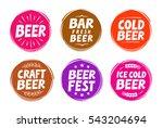 fresh craft beer  brewery... | Shutterstock .eps vector #543204694