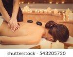 relaxed girl enjoying body... | Shutterstock . vector #543205720