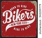 vintage biker graphics and... | Shutterstock .eps vector #543209779