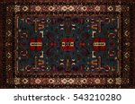persian carpet texture ... | Shutterstock . vector #543210280